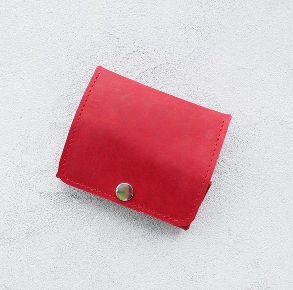 Портмоне Mini Wallet - Красный крейзи хорс
