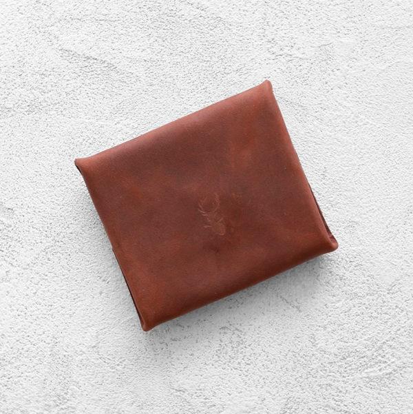 Портмоне Mini Wallet - Коньячный крейзи хорс