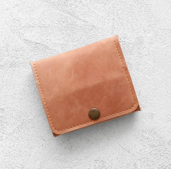 Портмоне Mini Wallet - Песочный крейзи хорс