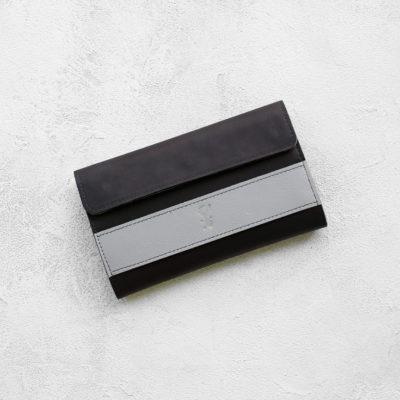 Портмоне BigWallet - Чёрный и серый