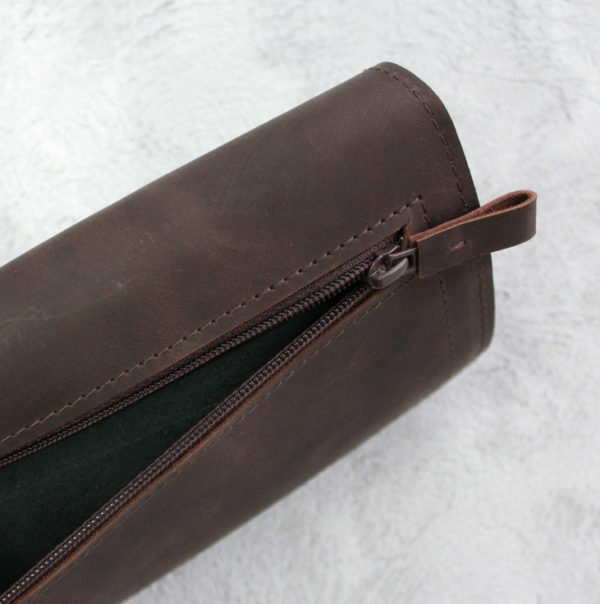 Портмоне TravelHolder - Шоколадный крейзи хорс + тёмно-зелёный
