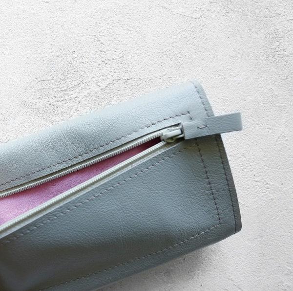 Портмоне TravelHolder - Светло-серый + розовый