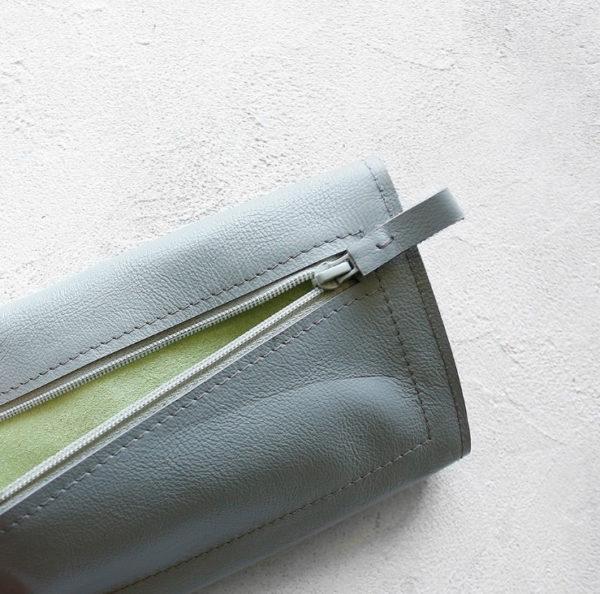 Портмоне TravelHolder - Светло-серый + салатовый