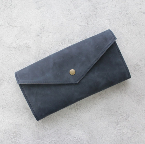 Портмоне TravelHolder - Синий крейзи хорс + коричневый