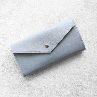 Портмоне TravelHolder - Светло-серый + синий