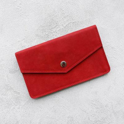 Портмоне Cover - Красный воск