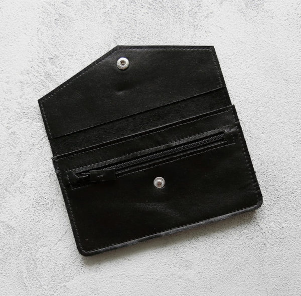 Портмоне Cover - Чёрный глянец