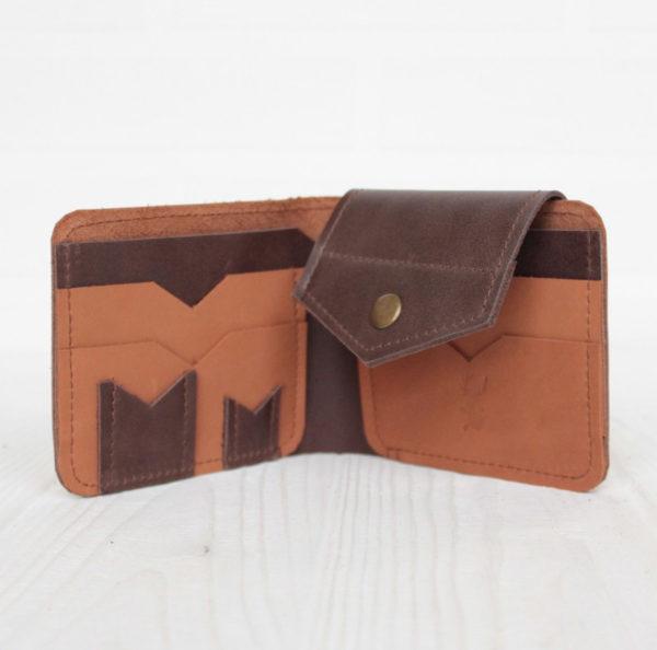 Портмоне Bifold - Миндаль и тёмно-коричневый