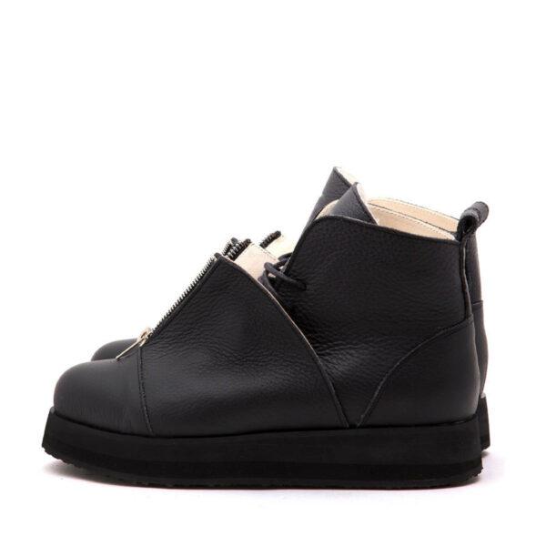 Ботинки Babochki Shoes Black Matt на платформе