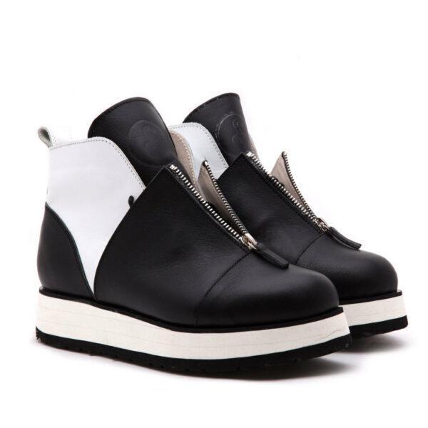 Ботинки Babochki Shoes Gloss B&W на платформе