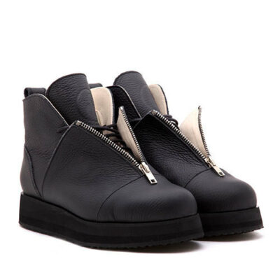 Ботинки Babochki Shoes Black Matt на платформе