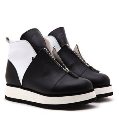 Ботинки Babochki Shoes Gloss B&W на платформе