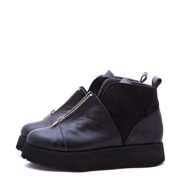 Ботинки Babochki Shoes Double Black на платформе