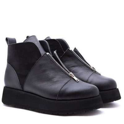 Ботинки Babochki Shoes Double Black на платформе