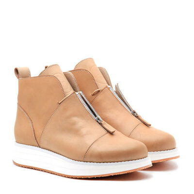 Ботинки Babochki Shoes Beige на платформе