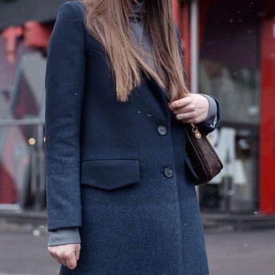 Дизайнерское пальто миди