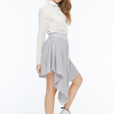 Серая асимметричная юбка