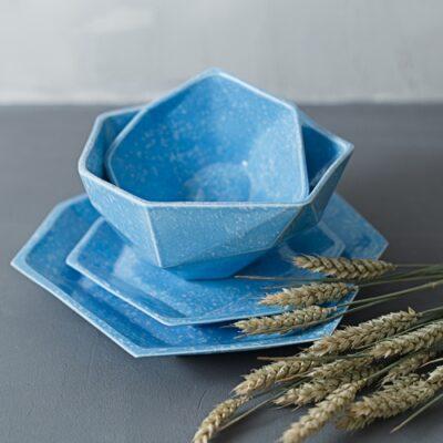 Набор посуды из коллекции Семигранник