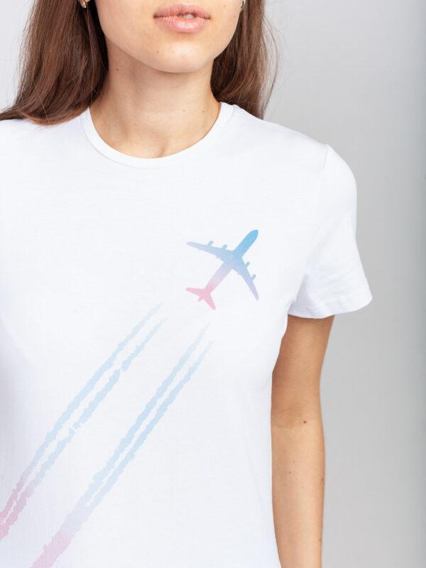 Футболка Plane in the sky женская